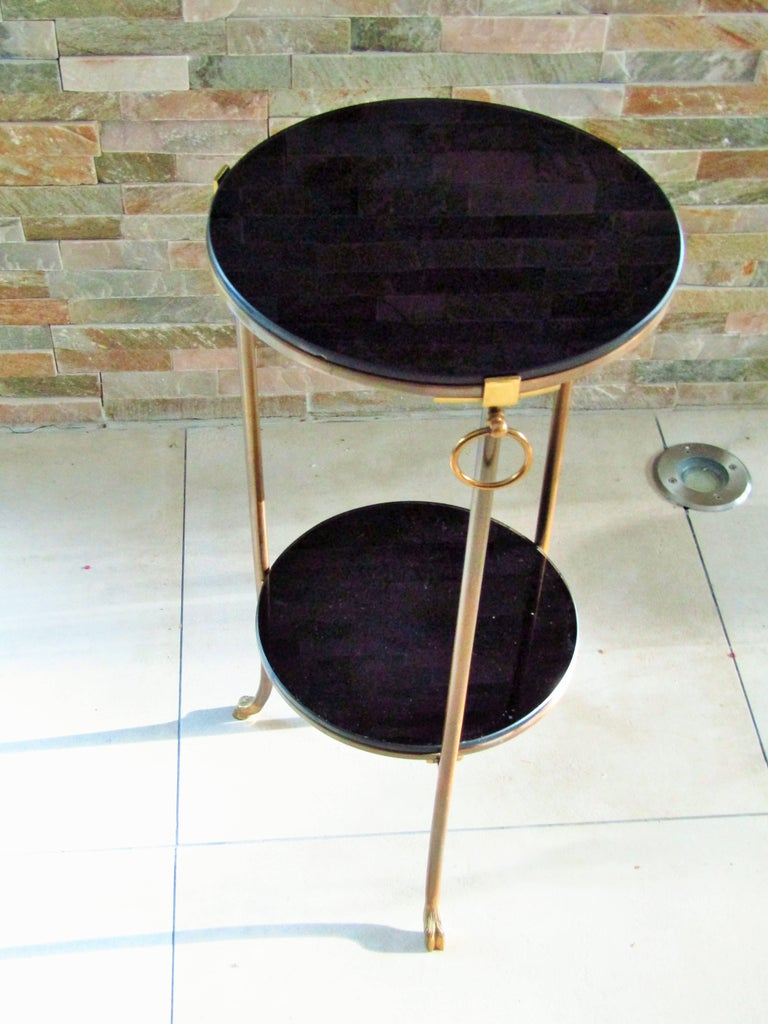 Midcentury Maison Charles Brass Side Table For Sale 2