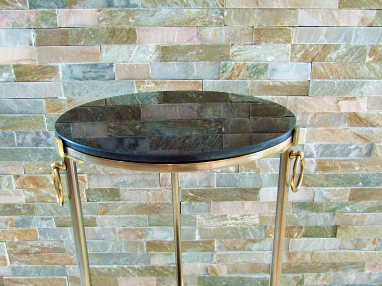 Midcentury Maison Charles Brass Side Table For Sale 6
