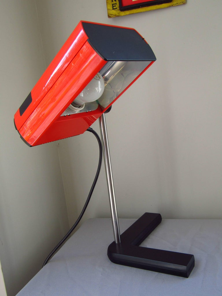 Plastic Mid-Century Desk Lamp by J.R. Talopp, France, 1970 For Sale