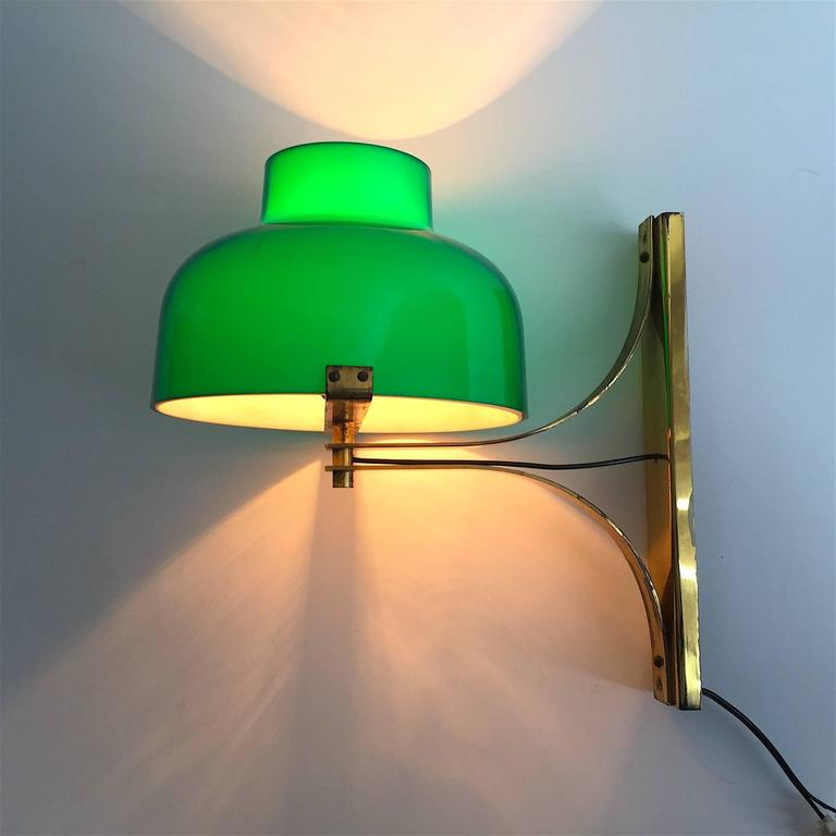 Miguel Milá Pair of Brass Wall Lamps Model Max Bill at 1stdibs