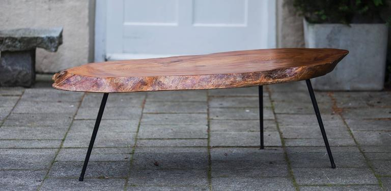 this tree trunk coffee table in nakashima style is no longer available