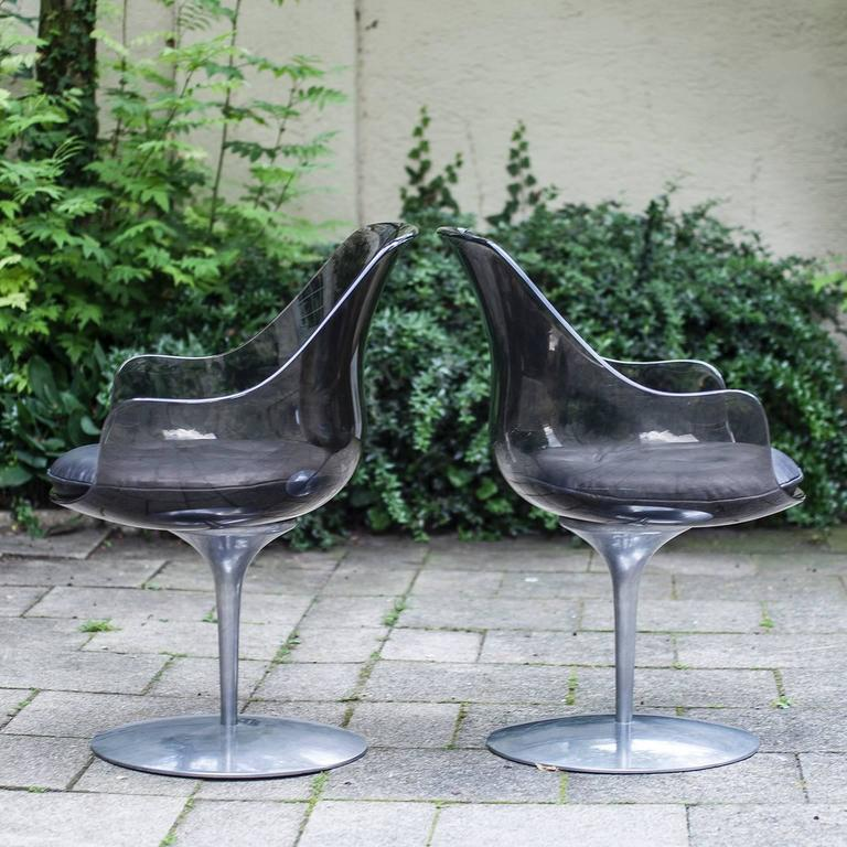 Two Laverne Champagne Chairs At 1stdibs