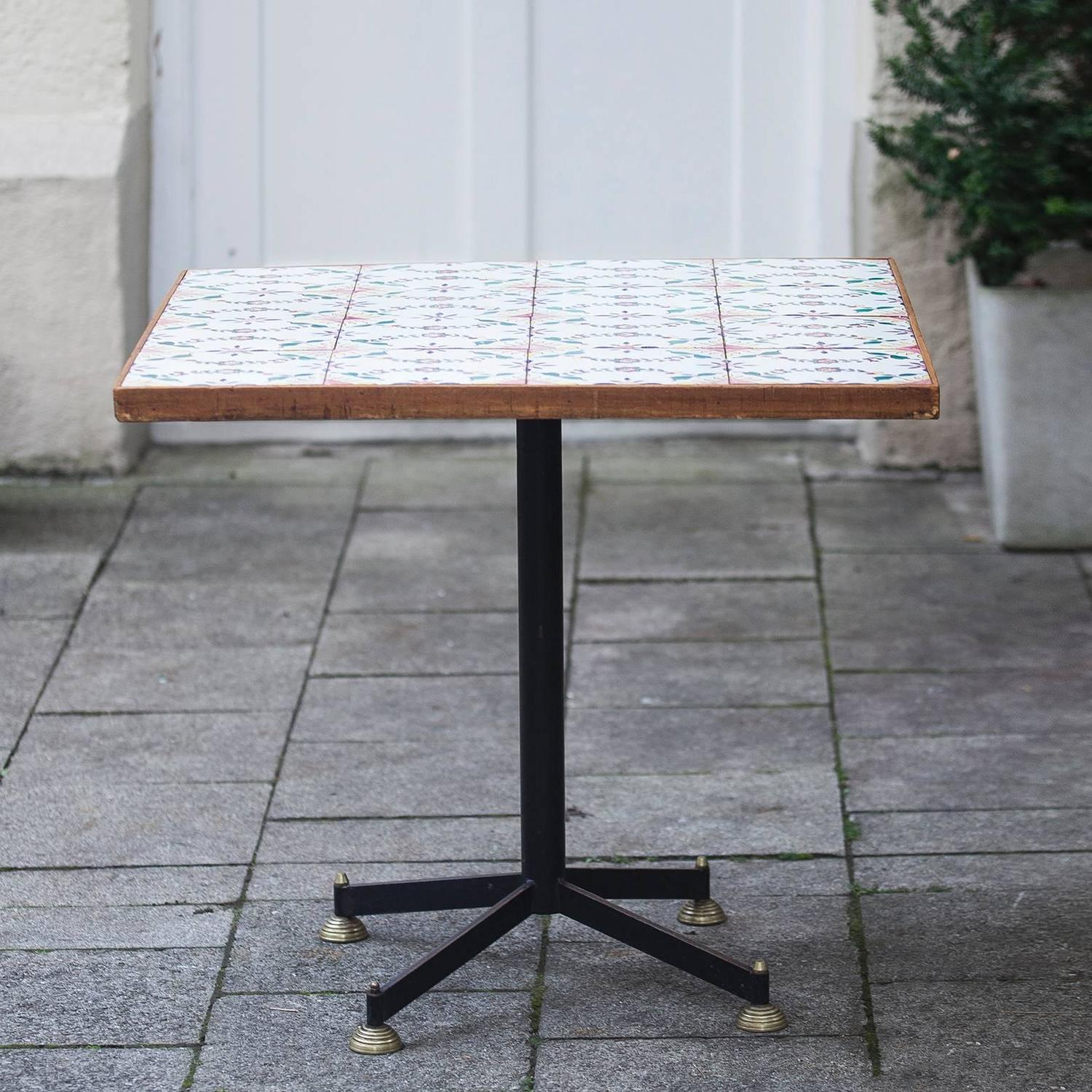 italian square ceramic tiles dining table 1950 for sale at 1stdibs