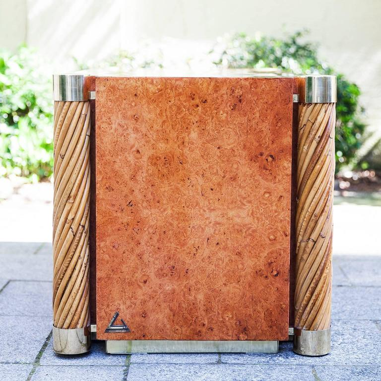 Late 20th Century Rare Gabriella Crespi Amboina Dresser Plurimi Series Signed For Sale