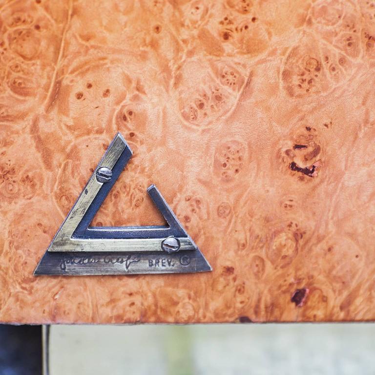 Brass Rare Gabriella Crespi Amboina Dresser Plurimi Series Signed For Sale