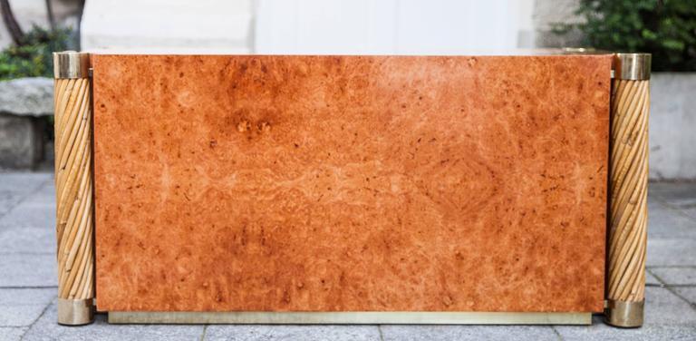 Italian Rare Gabriella Crespi Amboina Dresser Plurimi Series Signed For Sale