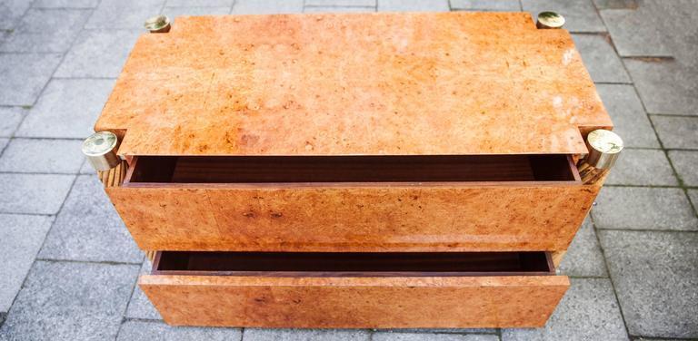 Woodwork Rare Gabriella Crespi Amboina Dresser Plurimi Series Signed For Sale