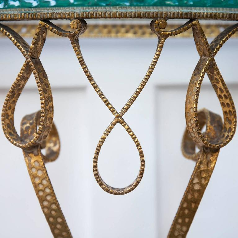 Pier Luigi Colli Gilt Iron Wall Console 3