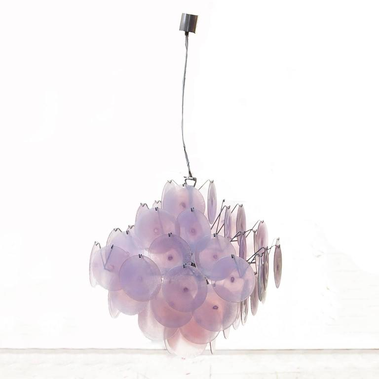 Huge Mazzega Chandelier 64 Opaline Glass Shades 2