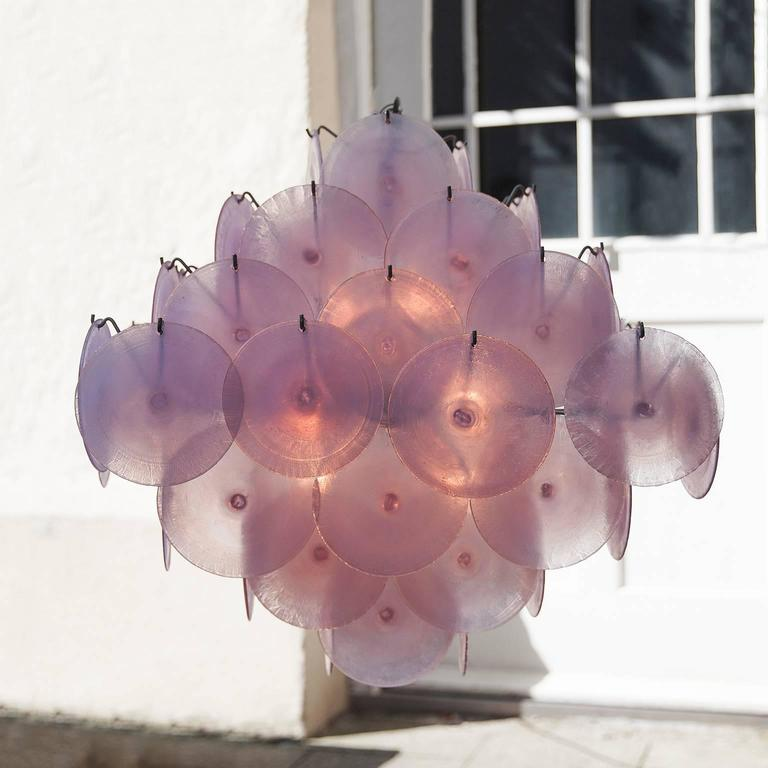 Huge Mazzega Chandelier 64 Opaline Glass Shades 5