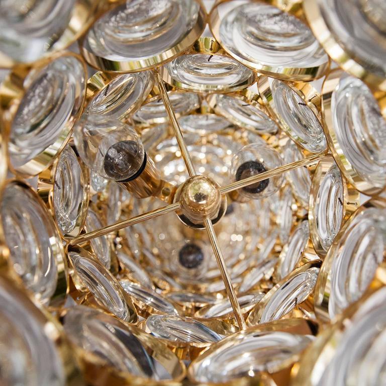 Beautiful Palwa Gilt Metal Jewel Crystal Floor Lamp 4