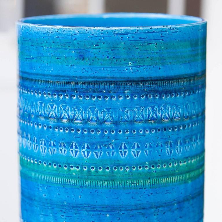 Huge Aldo Londi for Bitossi Rimini Blue Huge Ceramic Vase, 1950s 4
