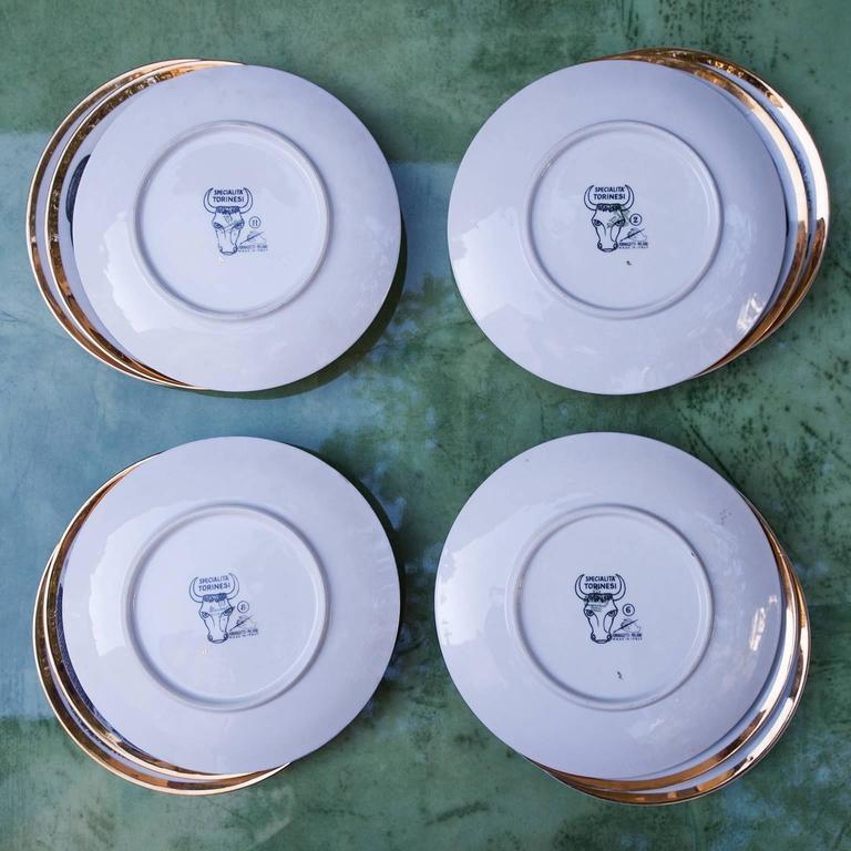 Fornasetti Piemontesi Plates Set of 12, Italy, 1950s 8