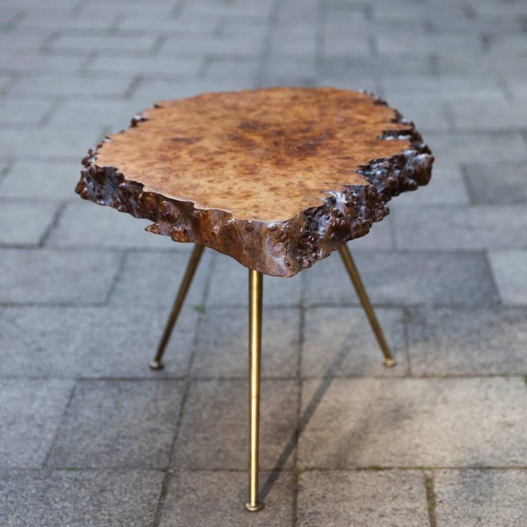 Carl Auböck Nakachima Style Burl Wood Tripod Side Table 5