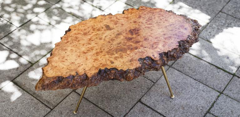 Carl Auböck Nakachima Style Burl Wood Tripod Side Table 2