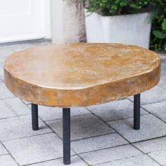 Paul Evans Style Tripod Coffee Table Golden Top