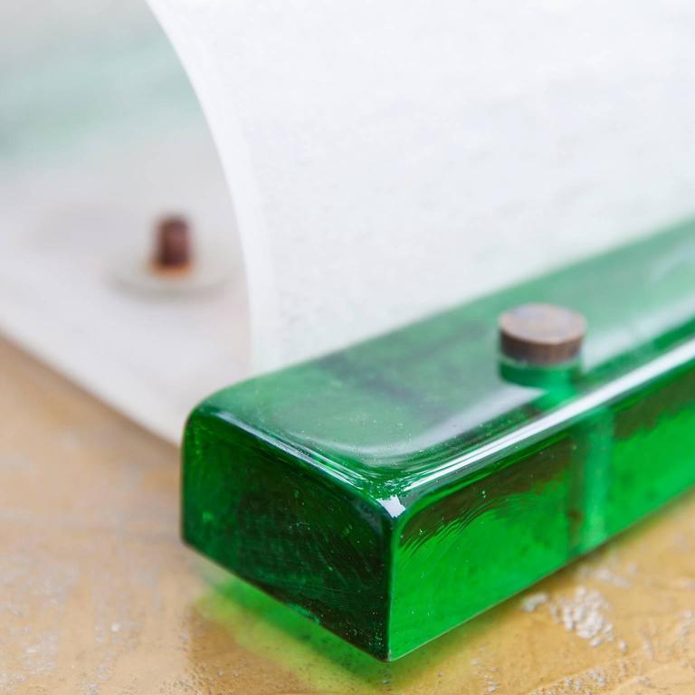 Venini Wall Light Green Glass For Sale at 1stdibs