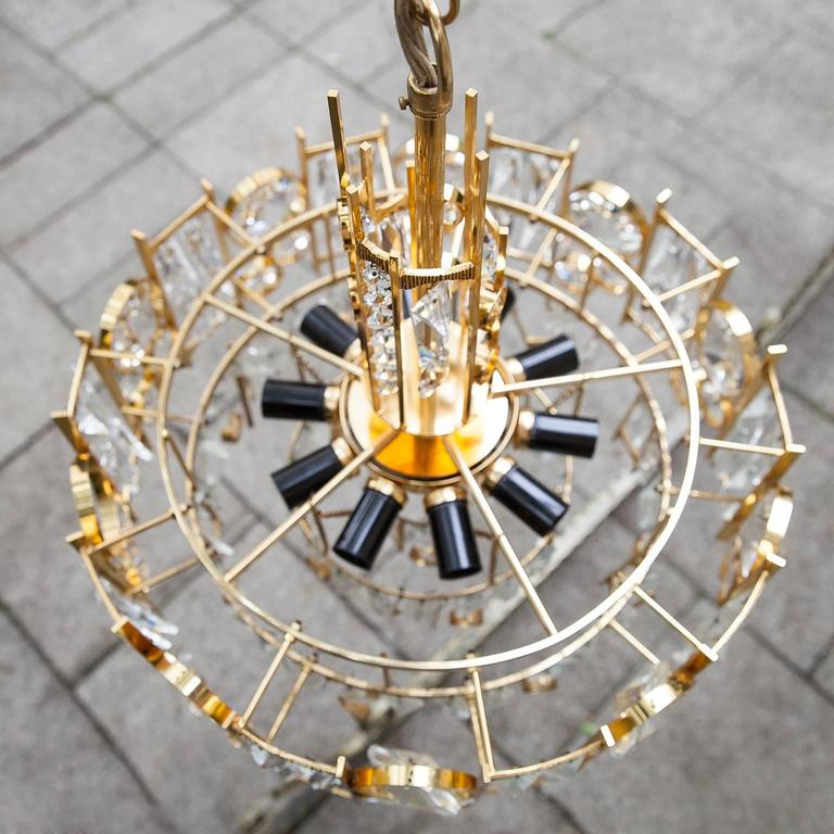 Palwa Gilt Metal Jewel Chandelier For Sale At 1stdibs