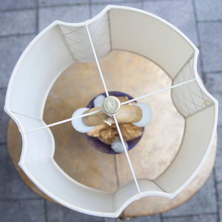 Colorful Porcelain Leaf Table Lamp For Sale At 1stdibs