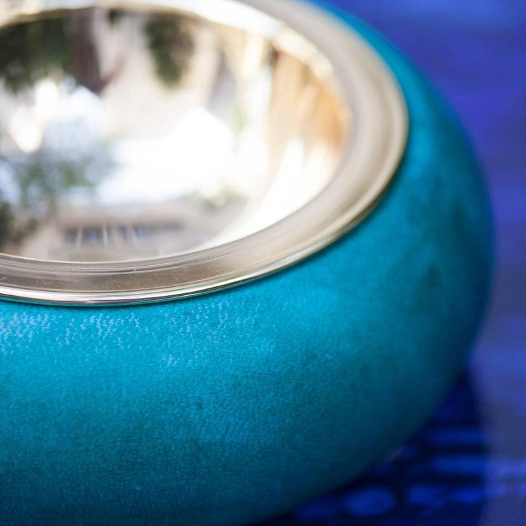 Aldo Tura Colorful Goatskin Bowls Set of Two For Sale 1