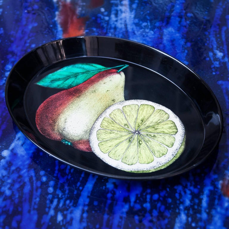 Mid-Century Modern Piero Fornasetti Oval Tray, 1950s For Sale
