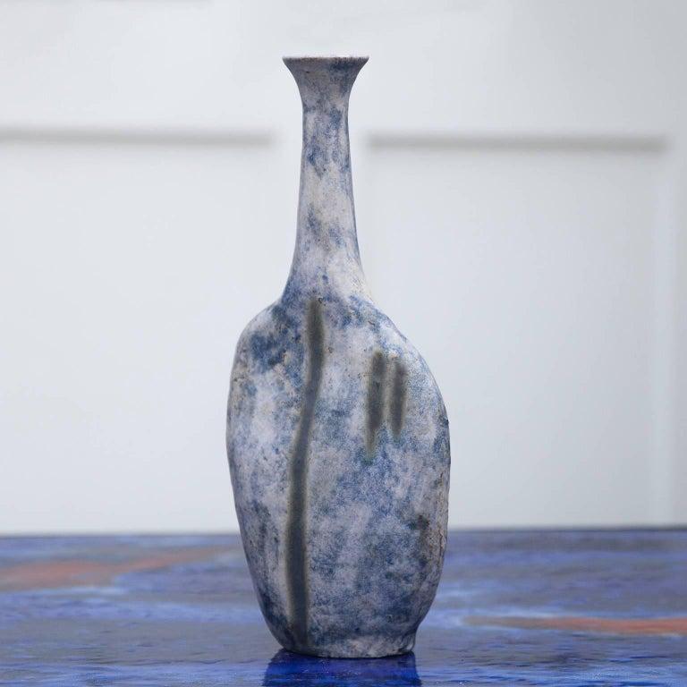 Bruno Gambone Stone Vase Blue, 1984, Set of Four 4