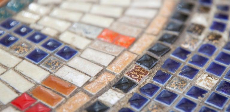Mosaic Art Deco Table Bird, Italy, 1930s For Sale 2