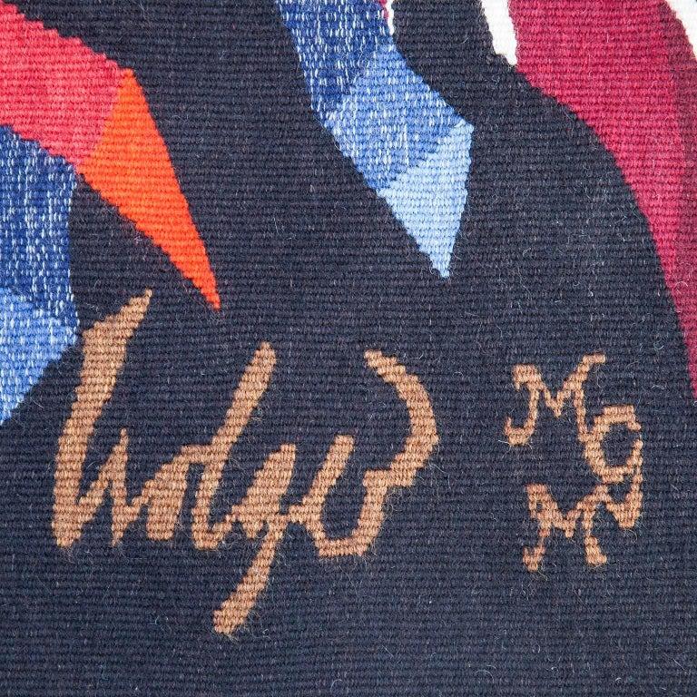 "Dirk Holger ""Feuersonne"" Gobelin Wall Carpet In Excellent Condition For Sale In Munich, DE"