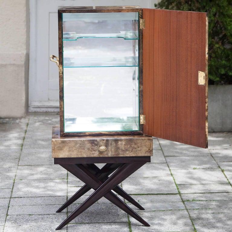 Aldo Tura Goatskin Books Bar Cabinet In Excellent Condition For Sale In Munich, DE