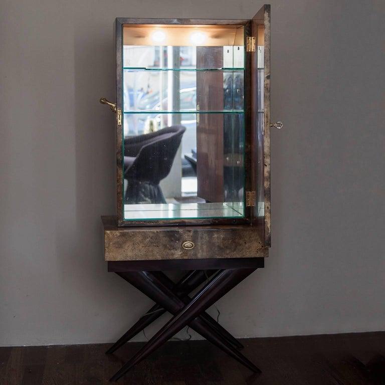 Aldo Tura Goatskin Books Bar Cabinet For Sale 6