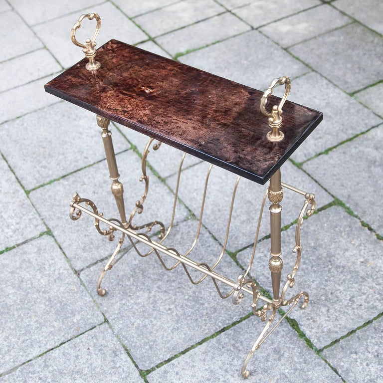 Italian Aldo Tura Magazine Rack For Sale