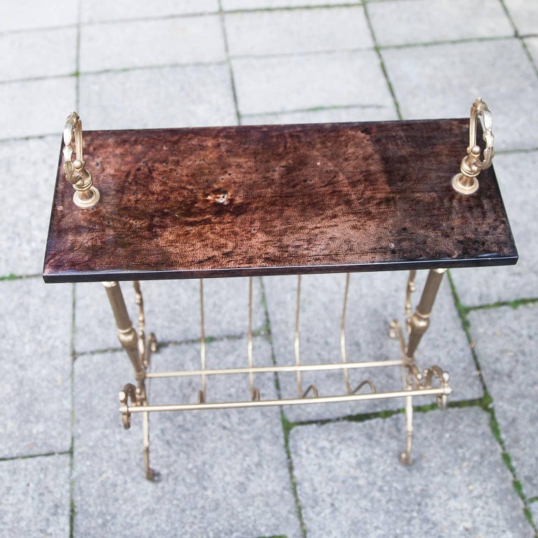 Late 20th Century Aldo Tura Magazine Rack For Sale