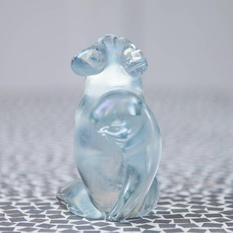 Italian Murano Glass Squirrel by Seguso For Sale