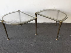 unique set of two coffee tables by lothar klute