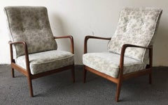 very rare set of 2 lounge chairs by gio ponti for cassina