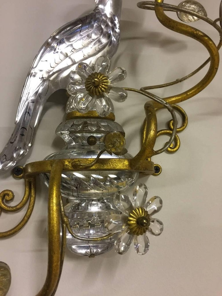 Pair of Amazing Crystal Appliques by Maison Baguès In Excellent Condition For Sale In Munich, DE