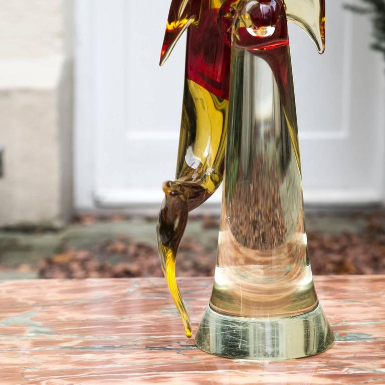 Late 20th Century Murano Art Glass Dolphin Sculpture For Sale