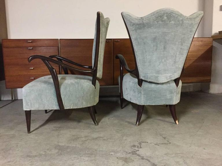 Pair of Italian Armchairs  In Excellent Condition For Sale In Munich, DE
