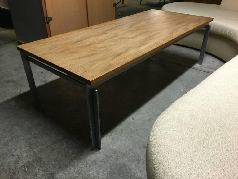 Rare pk59 Coffee Table with Unique Teakwood Top For Sale 3