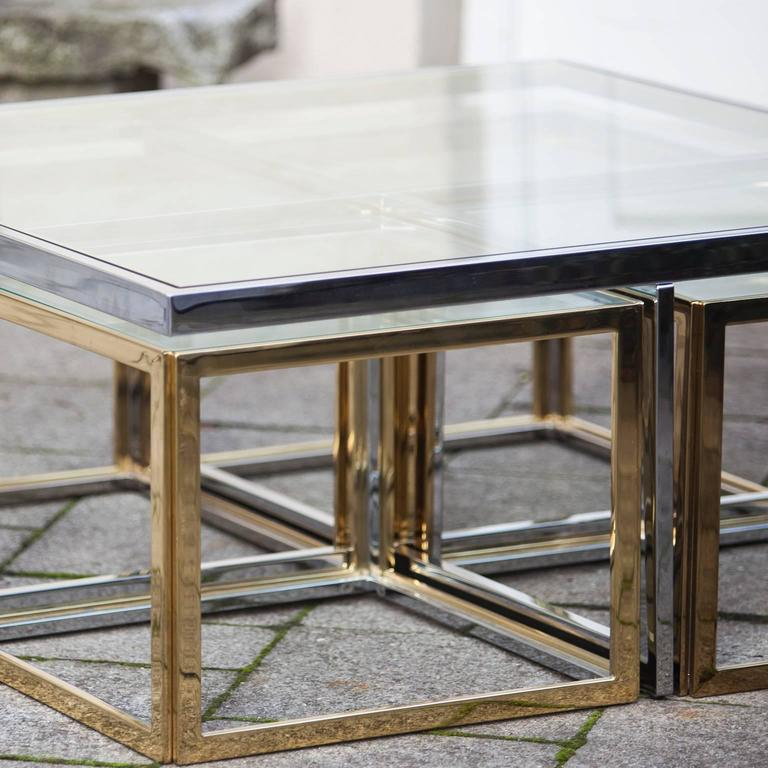 Late 20th Century Bicolor Maison Jean Charles Low Table For Sale