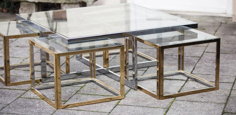 French Bicolor Maison Jean Charles Low Table For Sale