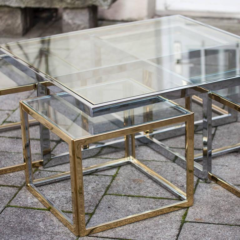 Bicolor Maison Jean Charles Low Table In Excellent Condition For Sale In Munich, DE
