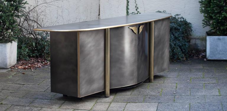 Glamorous Bicolor Cabinet Sideboard, attributed to Maison Jansen.