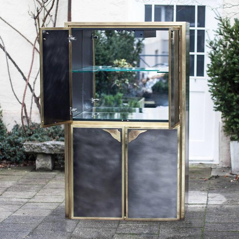 German Bicolor Bar Cabinet Maison Jansen For Sale