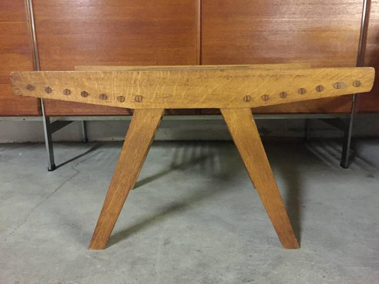 Nice Woodworkers Coffee Table With Magazine Storage For Sale At 1stdibs