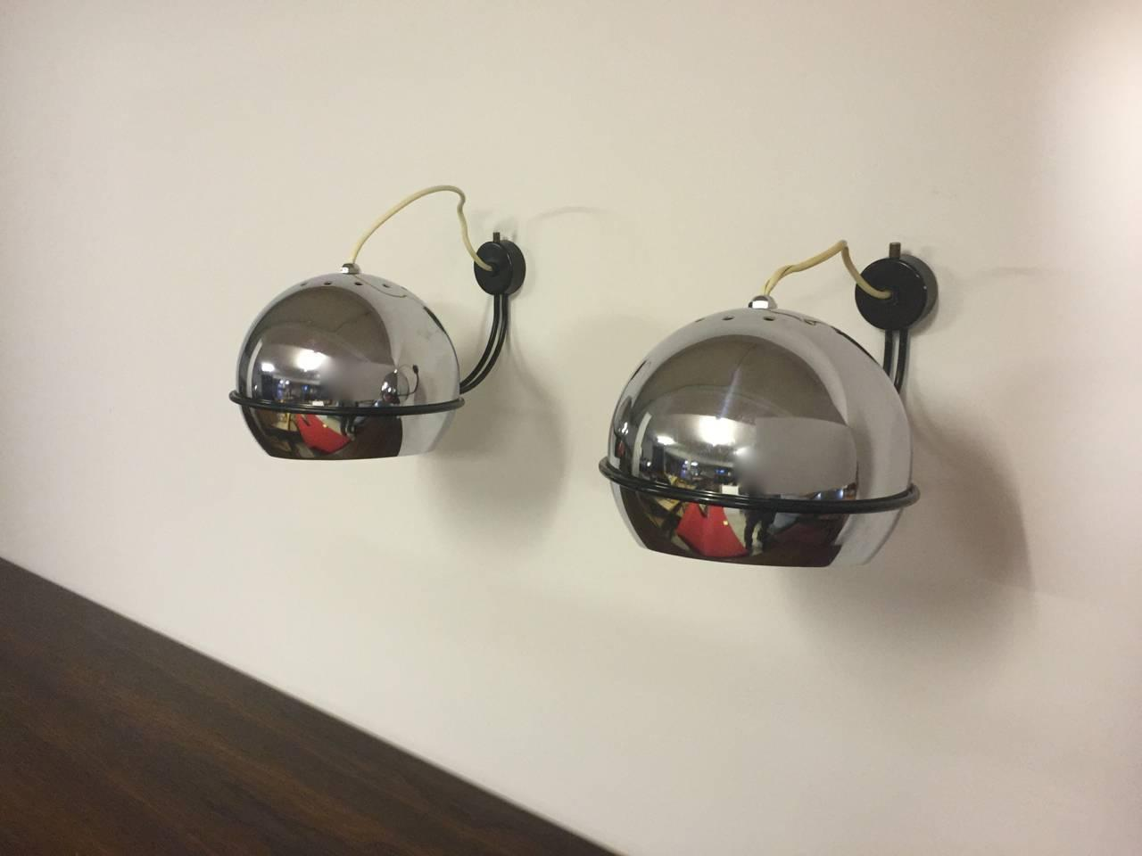 Very Rare Pair of No.232 Gino Sarfatti for Arteluce Wall Lights For Sale at 1stdibs