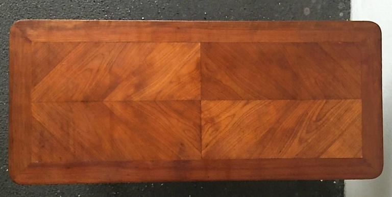 Wonderful Italian Coffee Table, Walnut and Brass In Good Condition For Sale In Munich, DE
