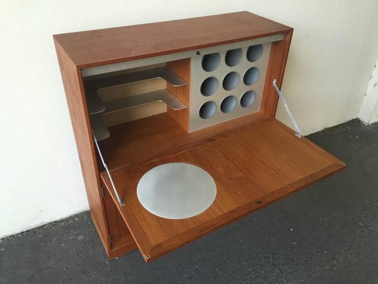 Space Age Meets Tradition Bar Cabinet from Denmark For Sale 3