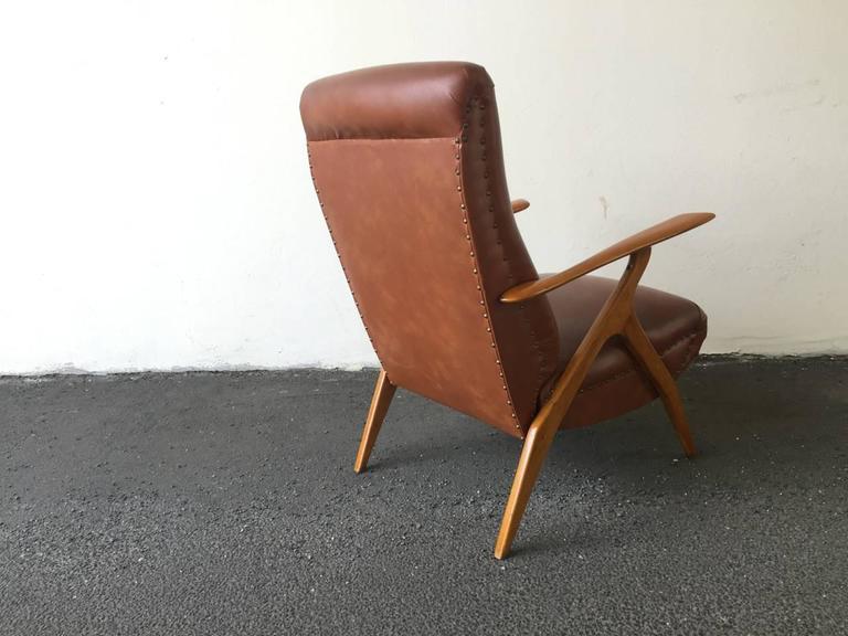 Mid-Century Modern Rare Italian Lounge Chair by Antonio Gorgone For Sale