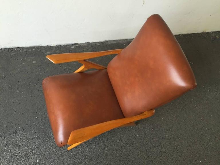 Rare Italian Lounge Chair by Antonio Gorgone For Sale 1